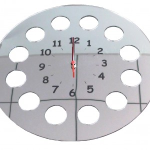 horloge miroir - déco sur mesure